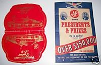 Vintage A & P Grocery Advertising Needle Book & Game Book